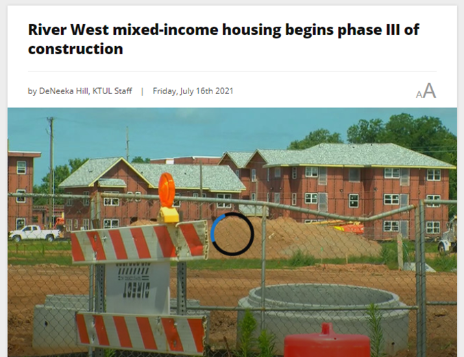 River West in the News: Phase III Financial Closing, Construction Featured